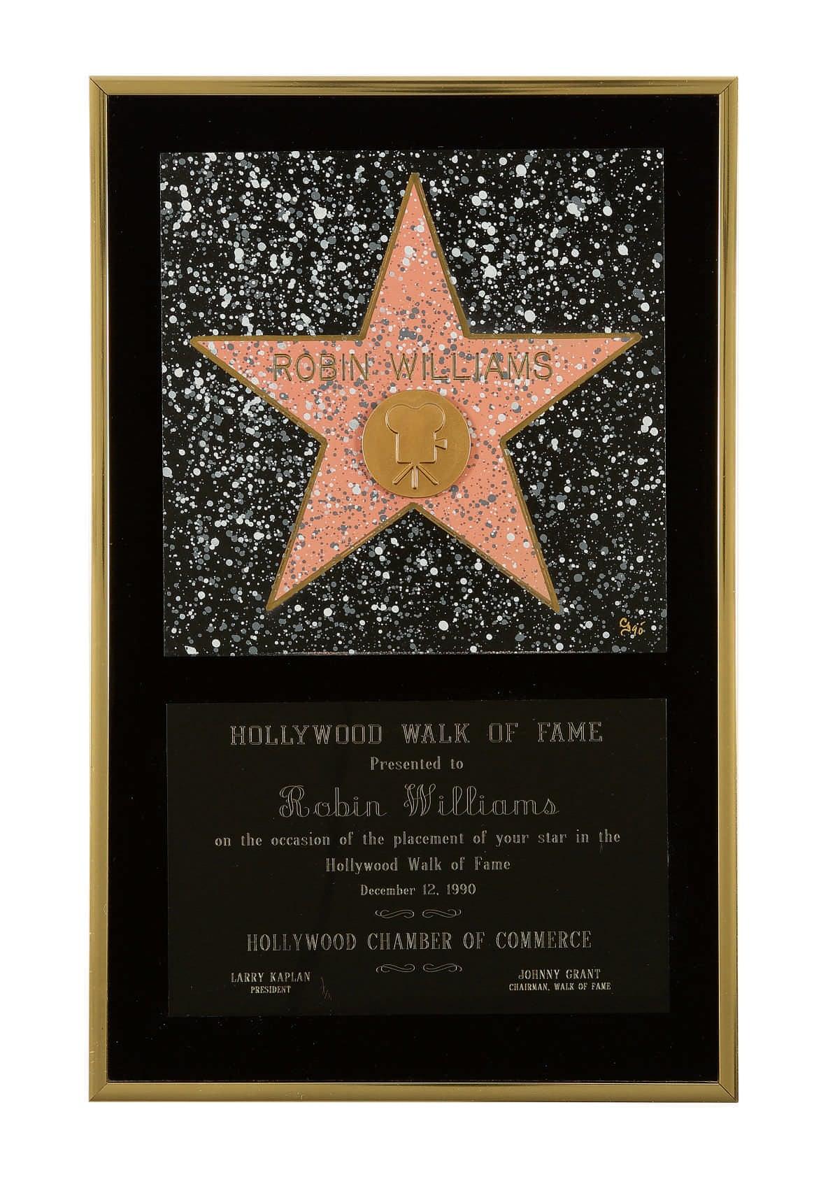 Η αναμνηστική πλακέτα για το αστέρι του  «Walk of Fame» στο Χόλιγουντ που απέκτησε ο ηθοποιός το 1990