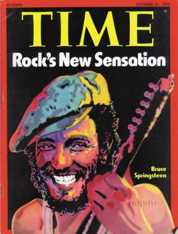 Οκτώβριος 1975, εξώφυλλο και στο Time. Η επιτυχία του «Born to Run» τον έχει βάλει στα πολιτικά έντυπα