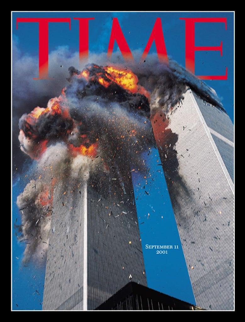 Δύο ημέρες μετά το χτύπημα της 11ης Σεπτεμβρίου 2001, το Time εγκατέλειψε το εμβληματικό κόκκινο πλαίσιο του εξώφυλλου για ένα πένθιμο μαύρο