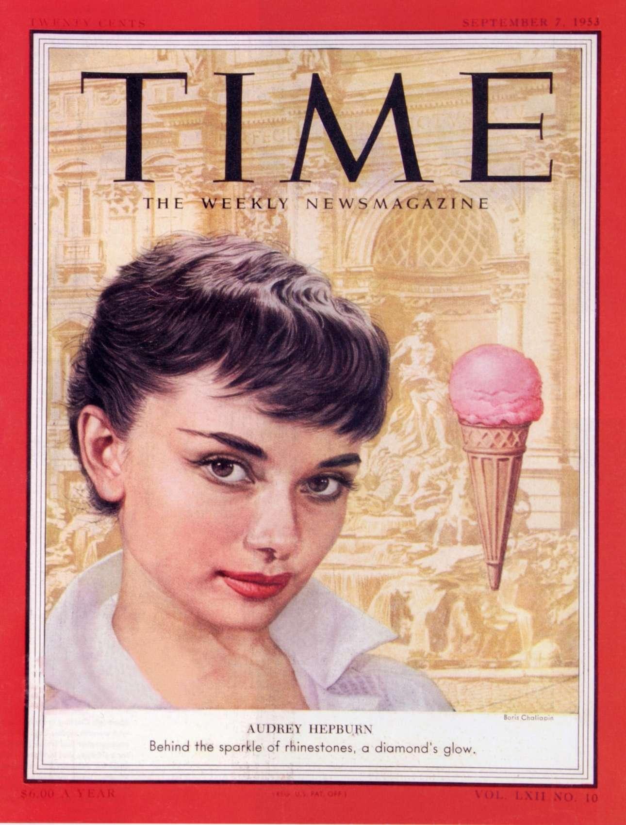 Μερικούς μήνες αργότερα, στις 7 Σεπτεμβρίου 1953, ήταν σειρά της Οντρεϊ Χέπμπορν