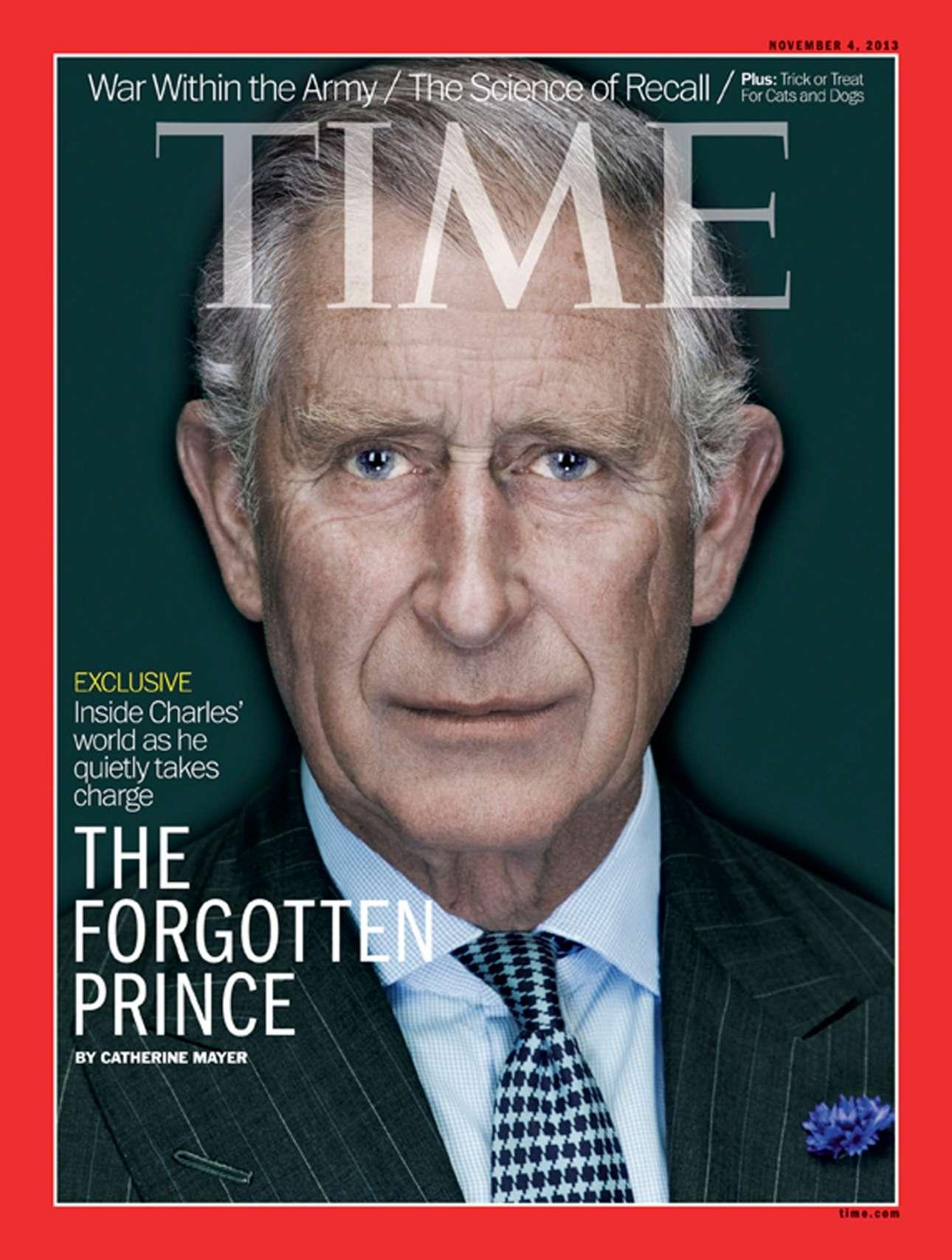 Ο Κάρολος είναι ο «ξεχασμένος πρίγκιπας» σε αυτό το εξώφυλλο από το 2013 που συνοδεύει ένα άρθρο για το πώς διακριτικά αναλαμβάνει εξουσίες