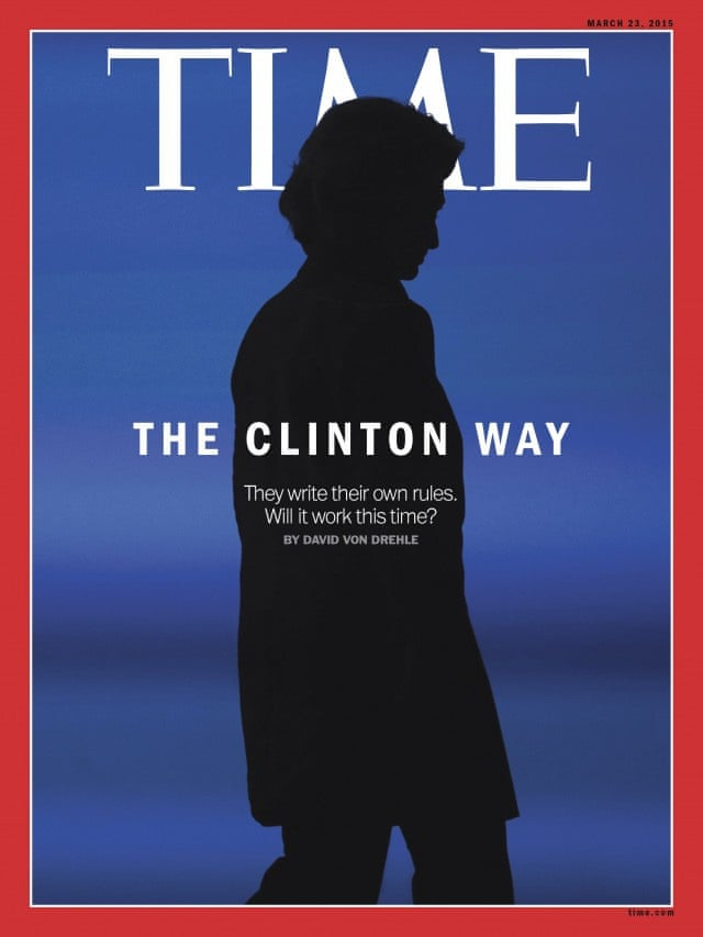 Η σιλουέτα της Χίλαρι Κλίντον σε αυτό το εξώφυλλο από το 2015 συνοδεύει ένα άρθρο για το αν θα τα καταφέρει αυτή τη φορά