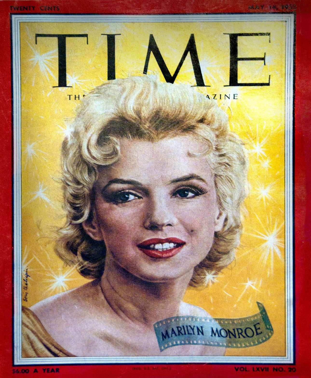 Μεταπολεμικά δεν κοσμούσαν μόνο οι πολιτικοί τα εξώφυλλα. Οι δημοφιλείς καλλιτέχνες άρχισαν να εμφανίζονται και αυτοί στο Time, όπως εδώ, στις 14 Μαΐου 1953, η Μέριλιν Μονρόε