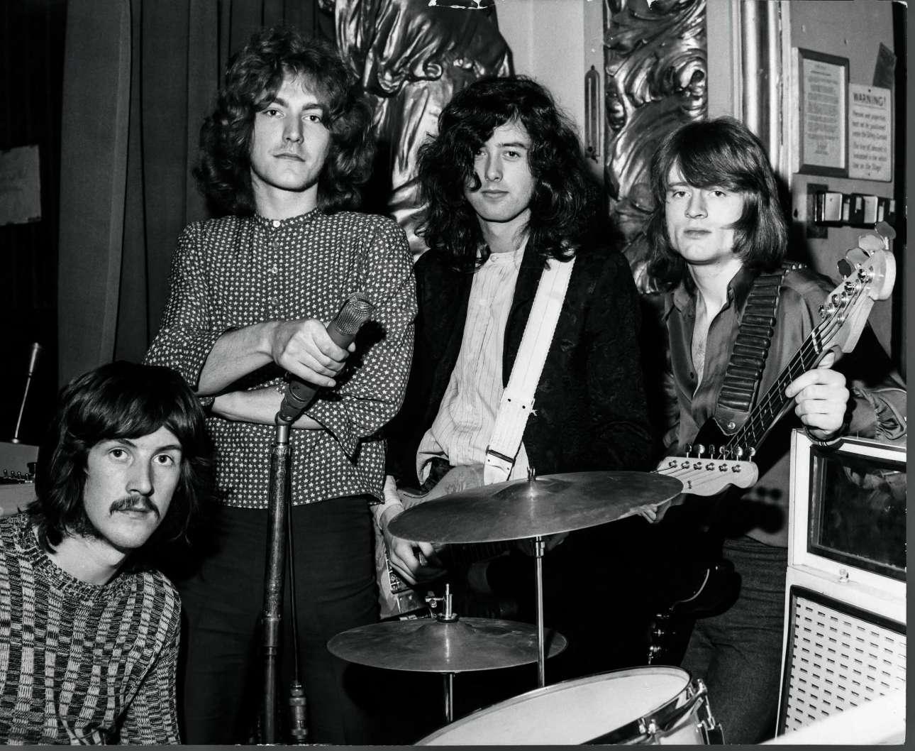 3 Μαρτίου 1969. Οι Led Zeppelin εμφανίζονται στη θρυλική εκπομπή «Top Gear» του BBC, στο Playhouse Theatre του Λονδίνου
