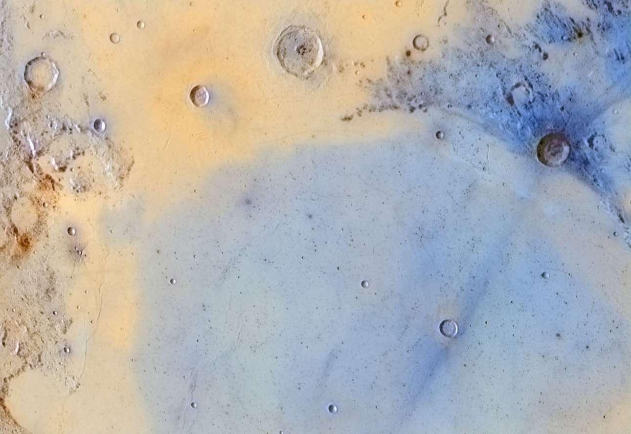 Βραβείο στην κατηγορία «Το Φεγγάρι μας». Αντεστραμμένα χρώματα του Συνόρου μεταξύ της σεληνιακής Θάλασσας της Ηρεμίας (Mare Serenitatis) και της θάλασσας της Γαλήνης (Mare Tranquilitatis)
