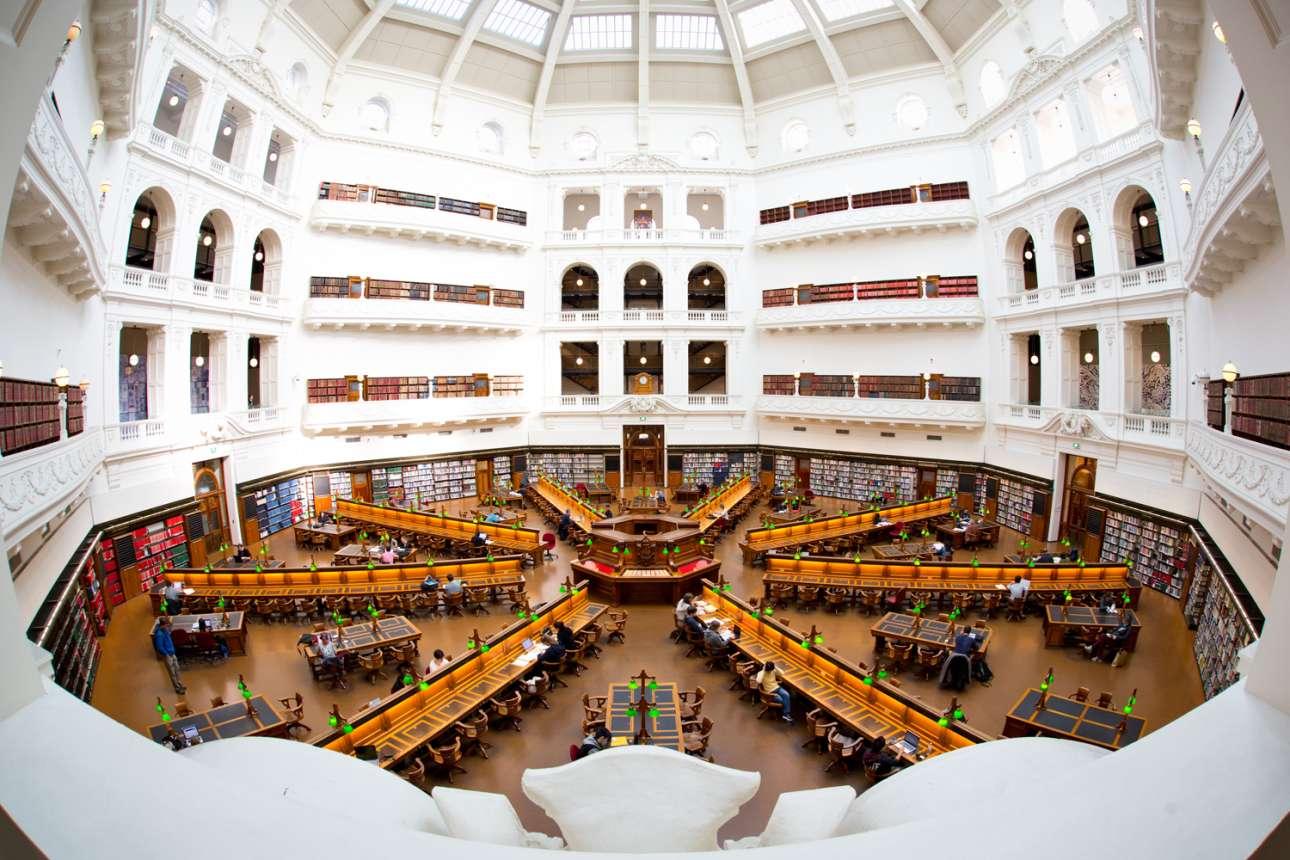 Το εντυπωσιακό αναγνωστήριο της Κρατικής Βιβλιοθήκης της Βικτώριας στη Μελβούρνη