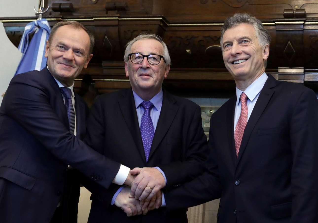 Στη σύνοδο εκπροσωπείται και η Ενωμένη Ευρώπη με τον πρόεδρο του Ευρωπαϊκού Συμβουλίου Ντόναλντ Τουσκ και τον πρόεδρο της Κομισιόν Ζαν-Κλοντ Γιούνκερ
