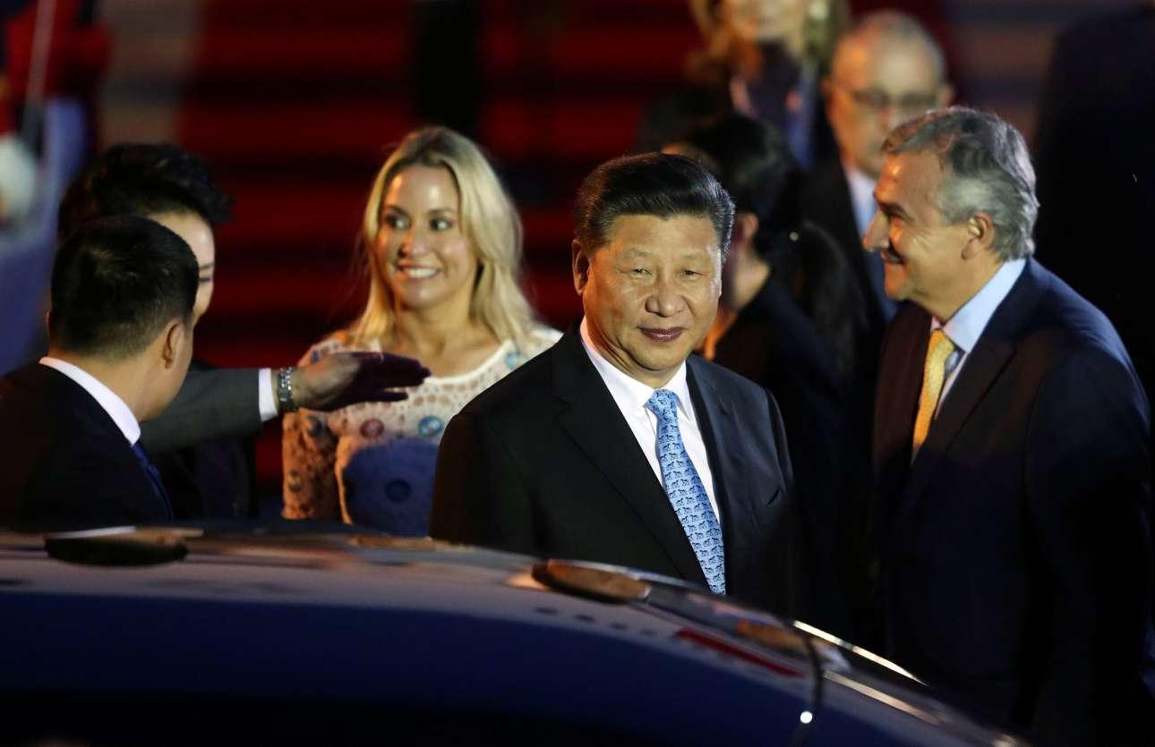 Η άφιξη του κινέζου ηγέτη Σι Τζινπίνγκ