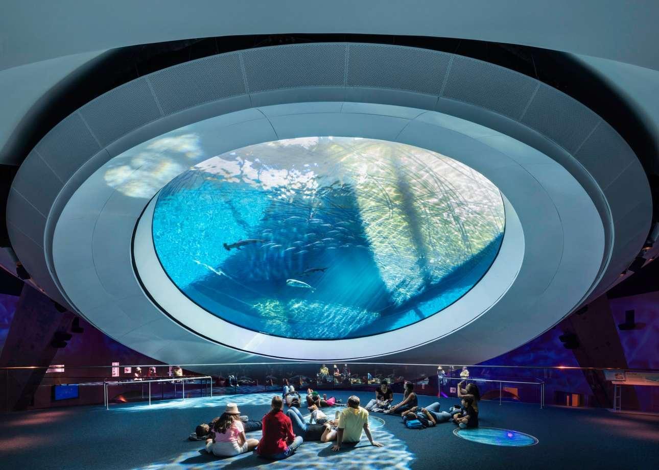 Το καινοτόμο Μουσείο Επιστήμης Πατρίτσια και Φίλιπ Φροστ στο Μαϊάμι. Το βραβευμένο κτίριο αξιοποιεί την ενέργεια από το νερό, τον ήλιο, τον άνεμο, ακόμη και από τους επισκέπτες, για να ηλεκτροδοτήσει τις εκθέσεις του μουσείου και να εξοικονομήσει πόρους