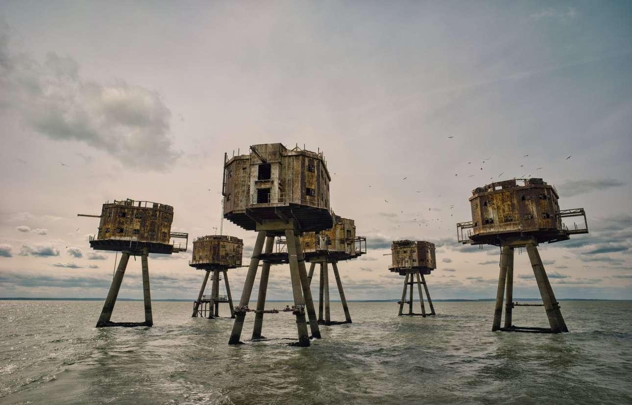 Βραβείο στην κατηγορία Βρετανική Ιστορία. Red Sands: μέρος των οχυρών που χτίστηκαν κατά τη διάρκεια του Β' Παγκοσμίου Πολέμου στην εκβολή του Τάμεση, για την προστασία του Λονδίνου από αεροπορικές επιδρομές