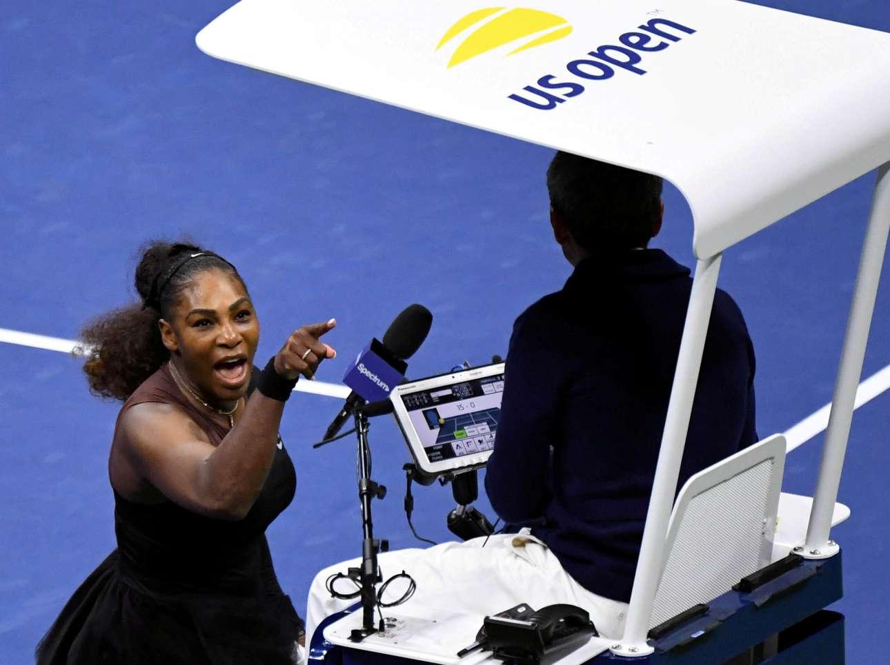 8 Σεπτεμβρίου. Η τενίστρια Σερένα Γουίλιαμς ξεσπάει και επιτίθεται φραστικά στον διατητή Κάρλος Ράμος έπειτα από παρατήρησή του, στον τελικό του Αμερικανικού Οπεν