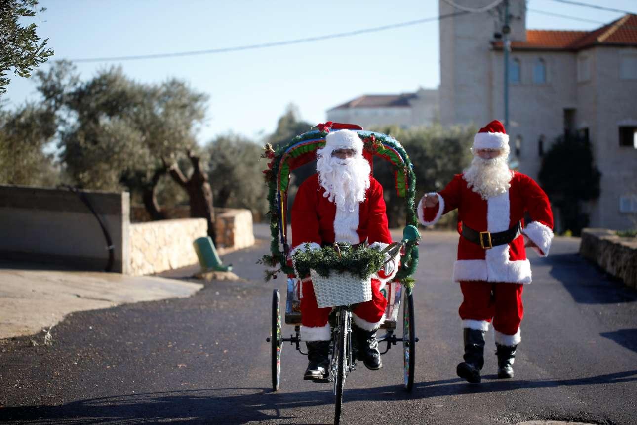 Αγιοβασίληδες στη Μιλίγια, ένα αραβόφωνο χριστιανικό χωριό στο Ισραήλ