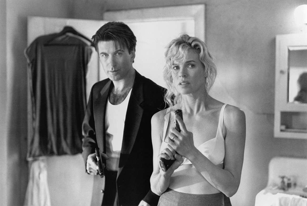 Με τον Αλεκ Μπόλντουιν στα γυρίσματα του «The Getaway» (1994)