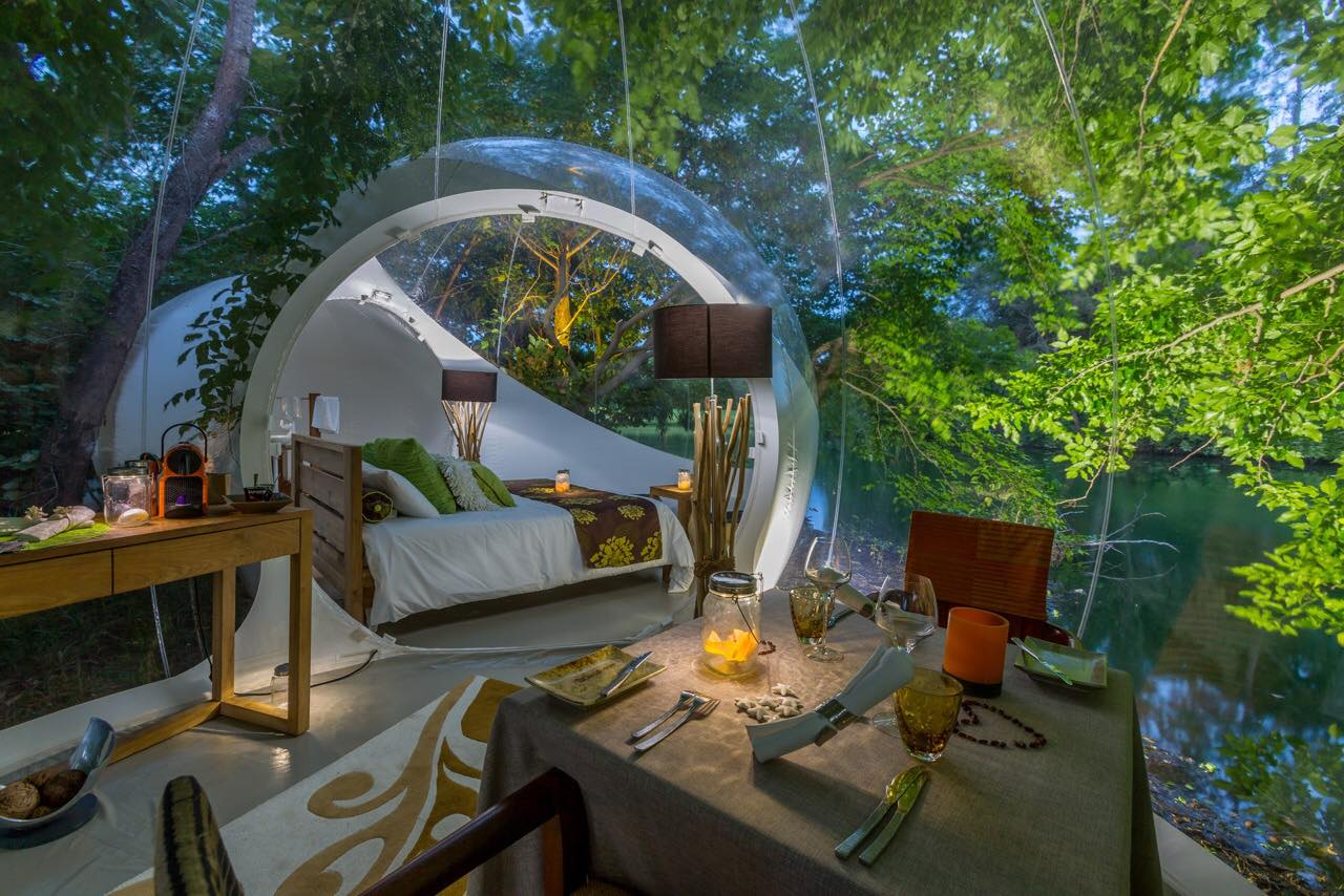 Χωμένα μέσα στην πρασινάδα του τροπικού νησιού Μαυρίκιος, τα δωμάτια του Bubble Lodge  είναι ιδανικά για όσους αναζητούν απομόνωση, αλλά και πολυτέλεια