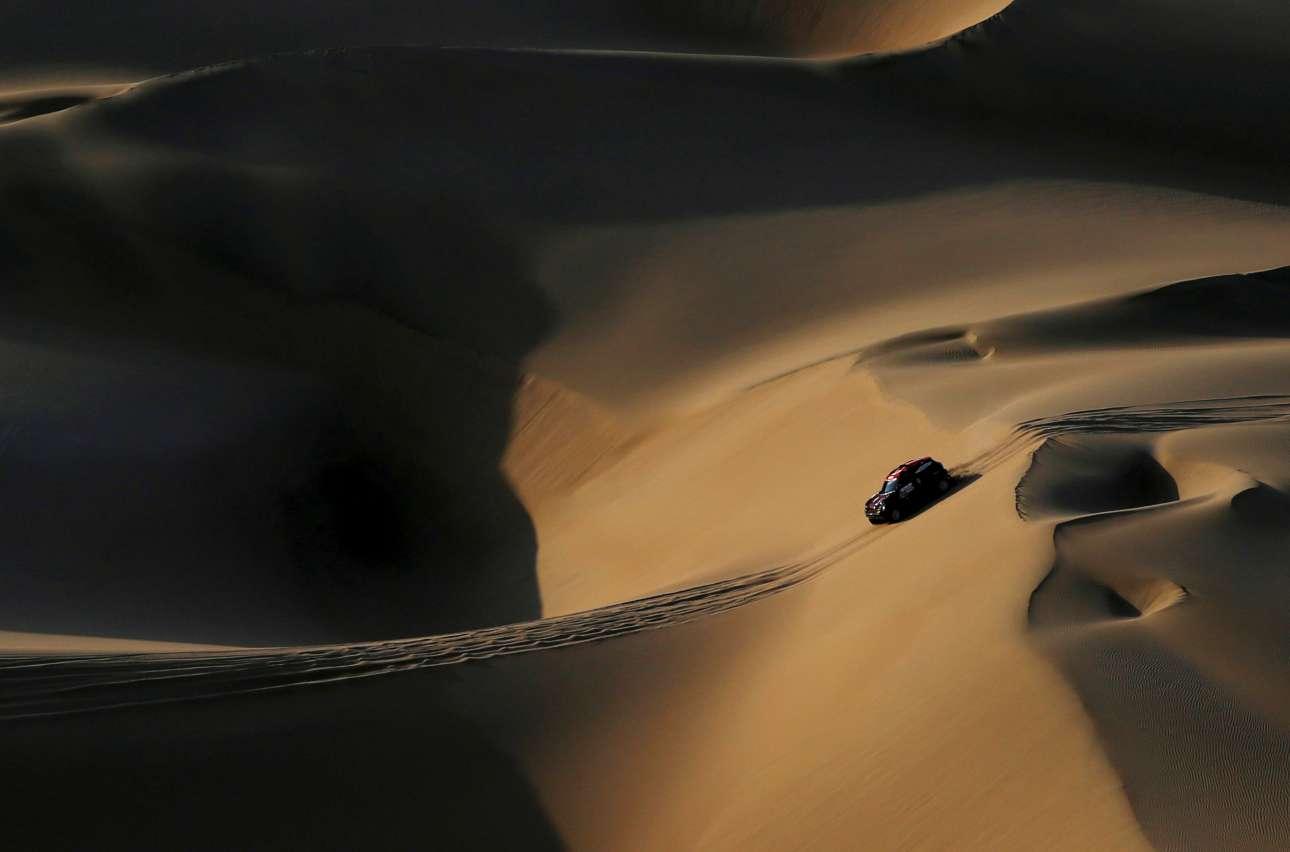 Τετάρτη 9 Ιανουαρίου. Κινηματογραφικό στιγμιότυπο από το φετινό Ράλι Ντακάρ στο Περού