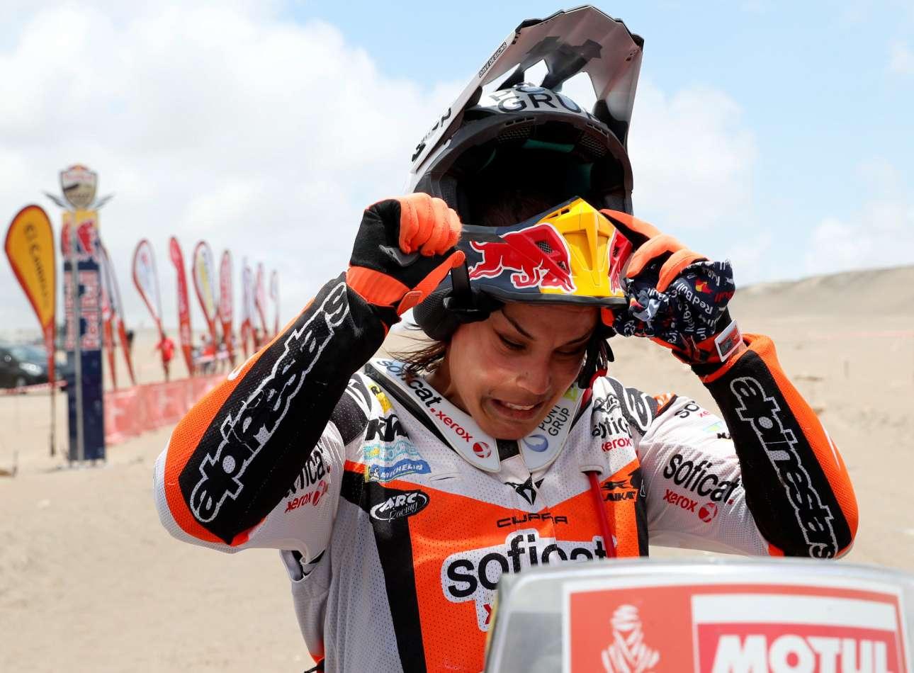 Η Λέα Σαντζ της KTM Factory Racing μετά το τέλος της κούρσας