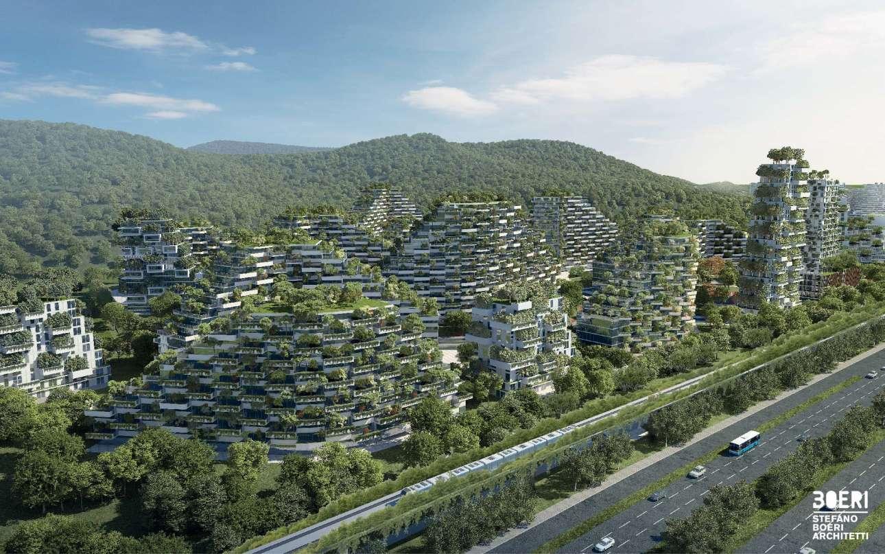 Ενα αστικό δάσος κάνει την εμφάνιση του και στην Κίνα, στην επαρχία Guangxi Zhuang. Εμπνευσμένη από το «κάθετο δάσος», ένα πράσινο συγκρότημα κτιρίων στο Μιλάνο, η Liuzhou Forest City είναι η απάντηση στην κλιματική αλλαγή. Ενεργειακά αυτόνομη, με ένα ηλεκτρικό τρένο για τις μεταφορές και χτισμένη ανάμεσα σε 40.000 δέντρα και 1 εκατομμύριο φυτά, η Liuzhou θα έχει μηδενικό αντίκτυπο ρύπων στον πλανήτη μας. Οι εργασίες για την καταπράσινη πόλη ολοκληρώνονται το 2020, τότε που θα ανοίξει τις πόρτες σε 30.000 τυχερούς κατοίκους
