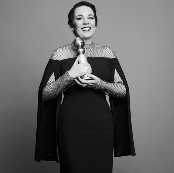 Η Ολίβια Κόλμαν, πρωταγωνίστρια του «The Favourite» του Γιώργου Λάνθιμου με το βραβείο για την καλύτερη γυναικεία ερμηνεία