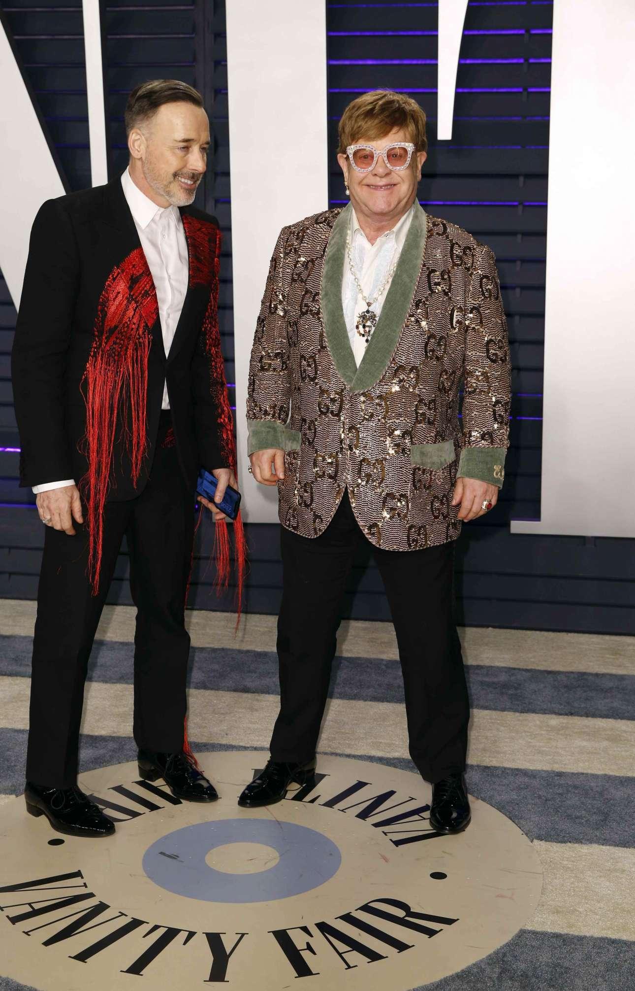 O σερ Ελτον Τζον με τον σύζυγό του καναδό σκηνοθέτη Ντέιβιντ Φέρνις