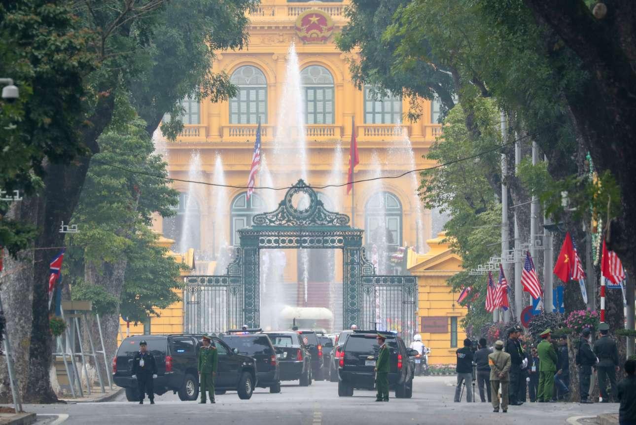 Φυσικά, τα μέτρα ασφαλείας στο προεδρικό παλάτι της πόλης ήταν δρακόντεια