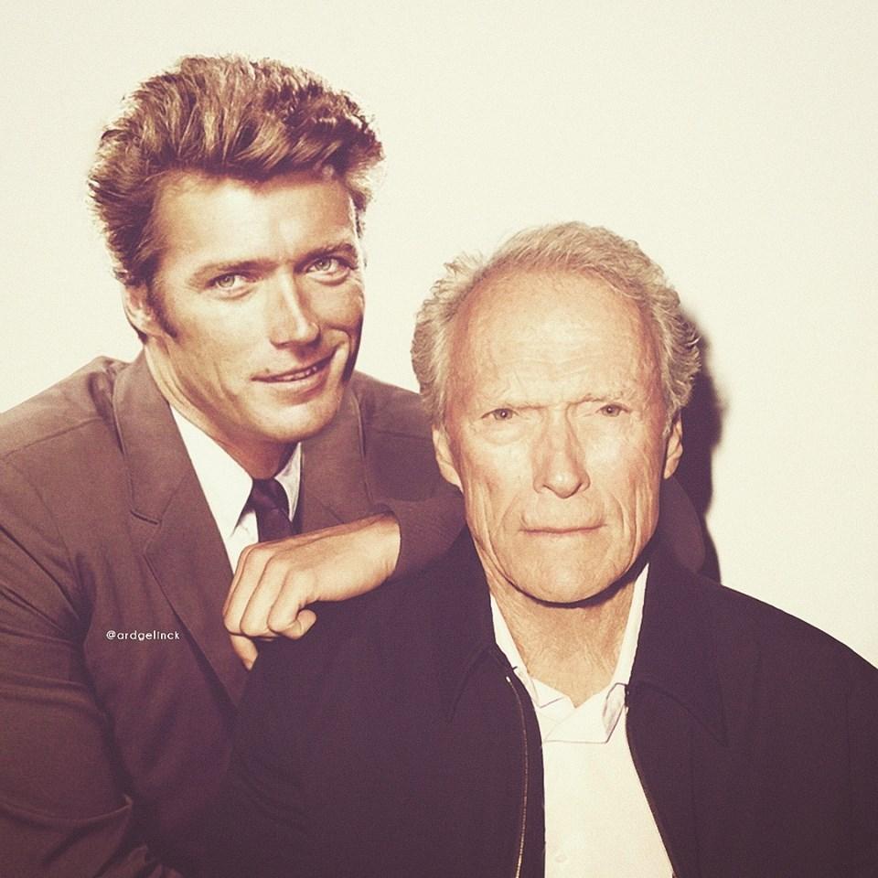Ο μέγας Κλιντ Ιστγουντ είναι 88 ετών σήμερα. Εδώ κάνει παρέα με εκείνον τον νεαρό ηθοποιό που έκανε τα πρώτα του βήματα σε τηλεοπτικά γουέστερν