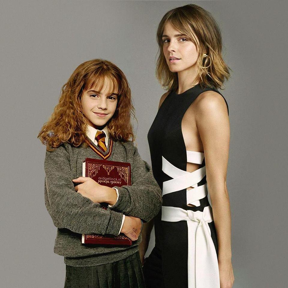 Αντιθέτως η μεταμόρφωση της «Ερμιόνης» του Χάρι Πότερ (Εμα Γουάτσον)  είναι εντυπωσιακή