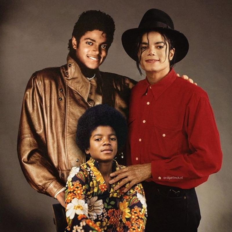 Ο Μάικλ Τζάκσον σε τρία διαφορετικά στάδια της ζωής του: από τους Jackson's 5, στα χρόνια του «Thriller» και από εκεί στα χρόνια του «Bad»