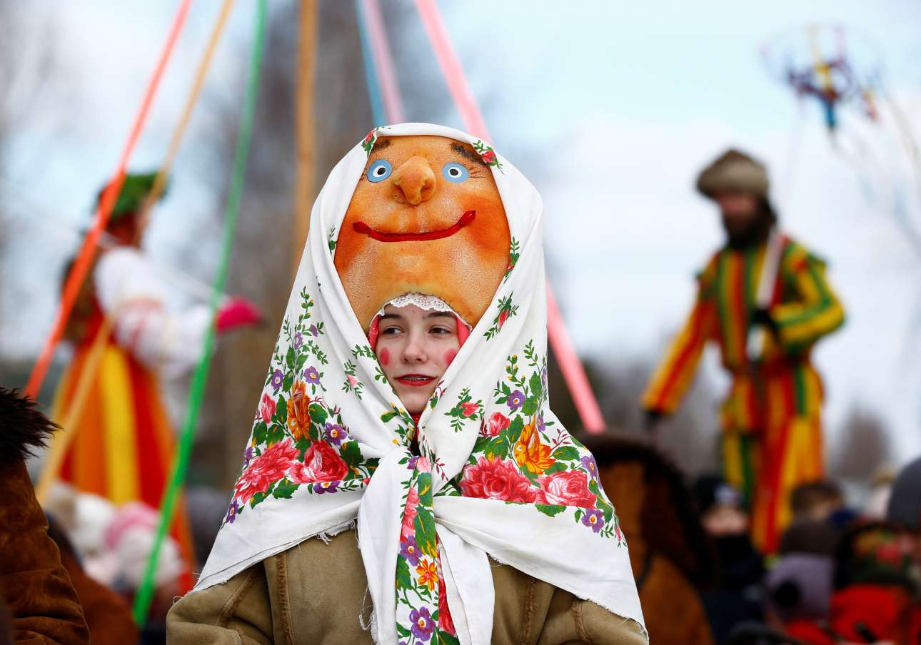 Μια μικρή, χαρούμενη και ροδοκοκκινισμένη Μασλένιτσα στη Λευκορωσία