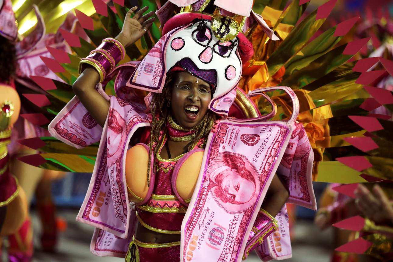 «Καλώς ήρθε το δολάριο» το... ζουμπουρλούδικο (καθότι κατακόκκινο) - στο Σαμπαδρόμιο του Ρίο