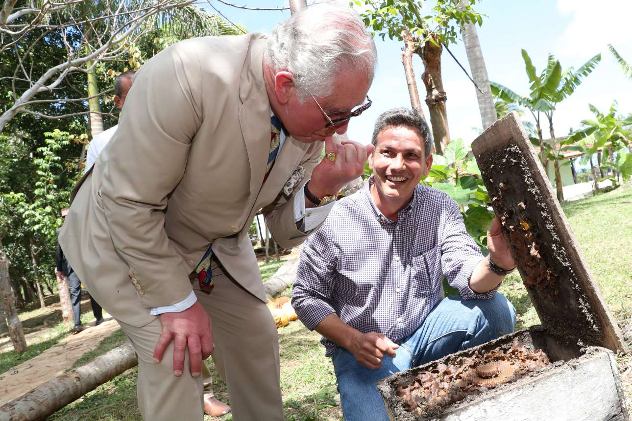 26 Μαρτίου: ο Κάρολος δοκιμάζει μέλι από την κηρήθρα σε αγρόκτημα κοντά στην κουβανική πρωτεύουσα