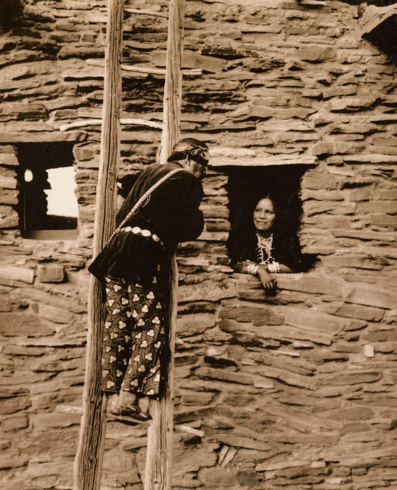 Μία χαρακτηριστική κατοικία της φυλής Χόπι, το 1920