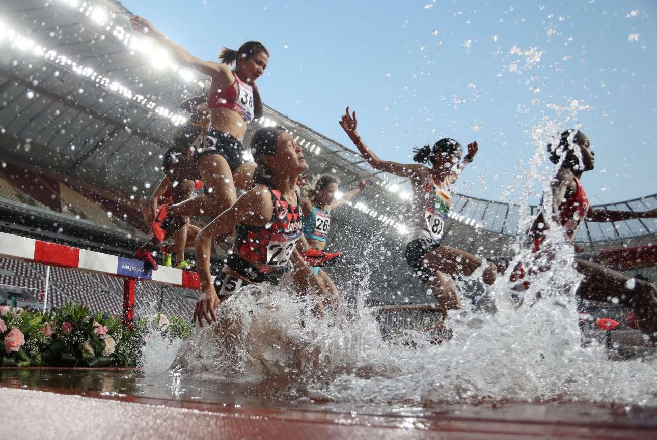 Μ. Τρίτη, 23 Απριλίου, Κατάρ. Εντυπωσιακό στιγμιότυπο από το Ασιατικό Πρωτάθλημα Στίβου που διεξάγεται στην Ντόχα