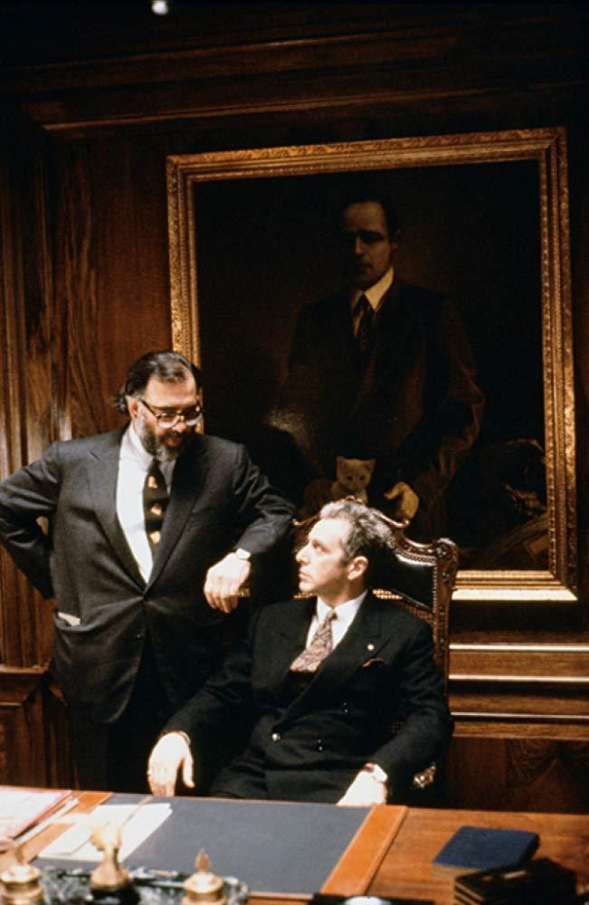 Με τον Αλ Πατσίνο στα γυρίσματα του «Νονού ΙΙΙ» (1990). Το τέλος της τριλογίας ήταν και το πιο αδιάφορο