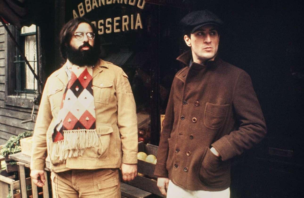 Στη Μικρή Ιταλία του Μανχάταν, ο Κόπολα με τον Ρόμπερτ ντε Νίρο στα γυρίσματα του «Νονού ΙΙ». Και οι δύο κέρδισαν το Οσκαρ – σκηνοθεσίας και β' ανδρικού ρόλου. Το φιλμ τιμήθηκε και με Οσκαρ Καλύτερης Ταινίας