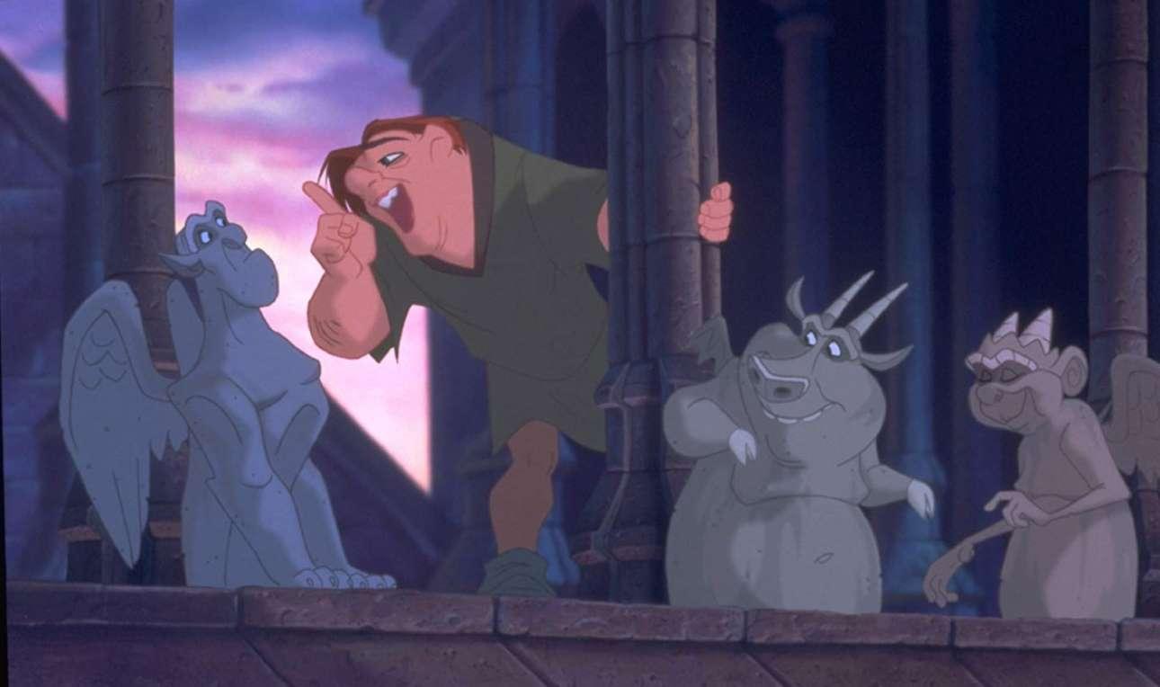O Κουασιμόδος στη Νοτρ Νταμ στο κόμικ της Disney, «H Παναγία των Παρισίων» (1996)