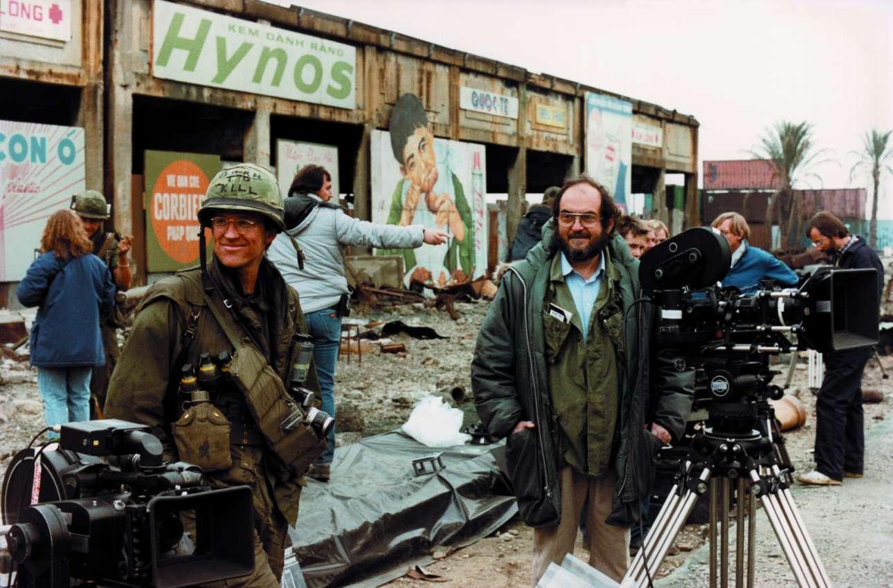 Με τον Μάθιου Μοντίν στο σετ της συγκλονιστικής αντιπολεμικής ταινίας «Full Metal Jacket»