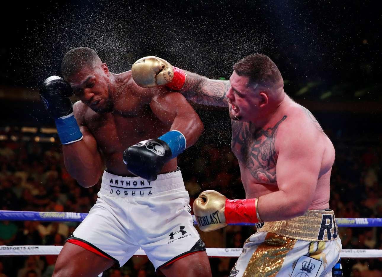 Μία από τις μεγαλύτερες εκπλήξεις των τελευταίων ετών στην παγκόσμια πυγμαχία έγινε τα ξημερώματα της Κυριακής, όταν ο Άντονι Τζόσουα (αριστερά) ηττήθηκε από τον Άντι Ρουίς(δεξιά)