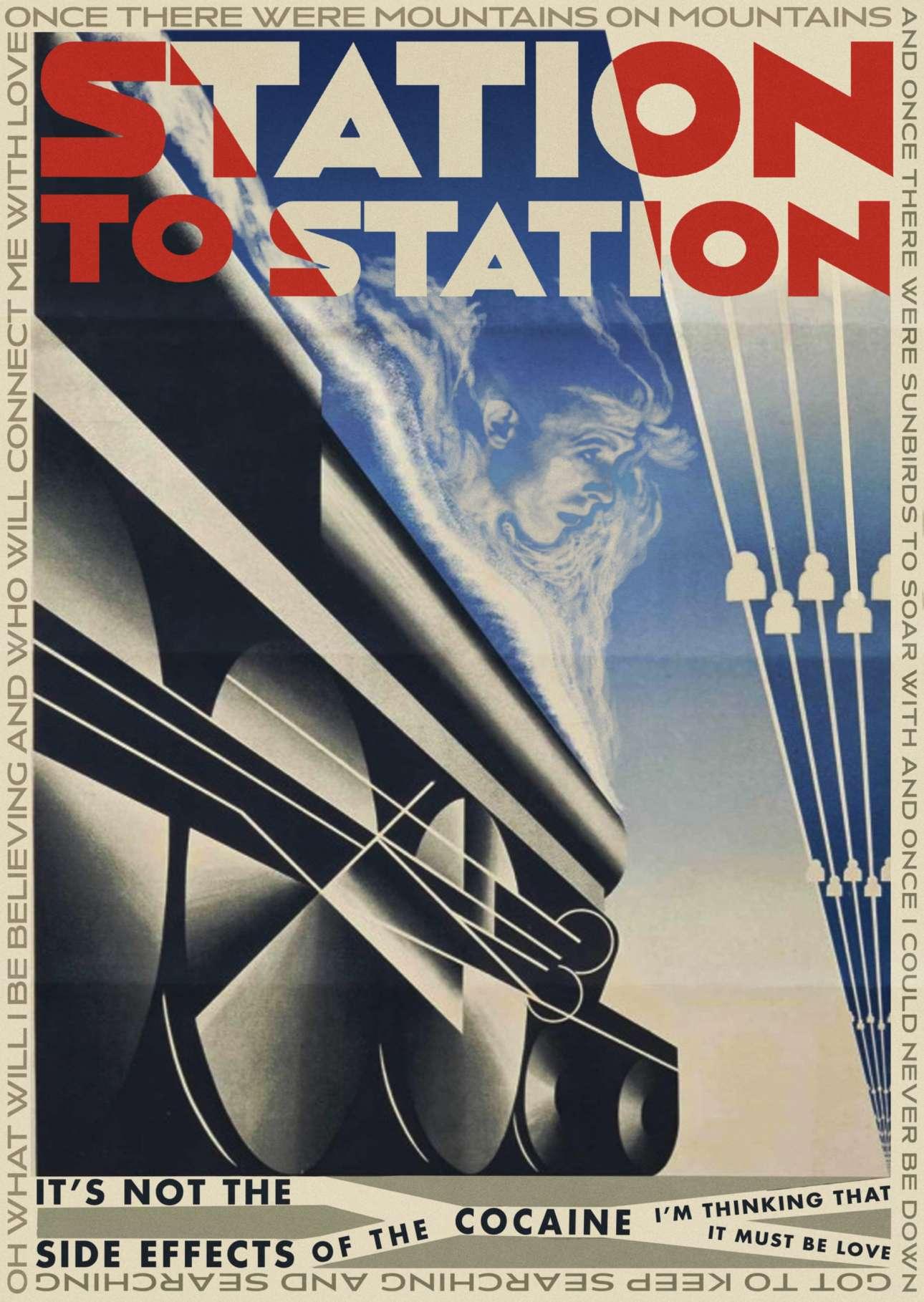 Φουτουριστική αισθητική στο εξώφυλλο για το τραγούδι «Station to Station» του Ντέιβιντ Μπάουι