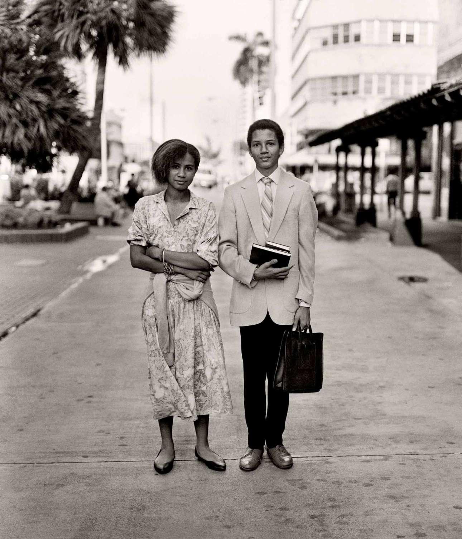 Οι Μάρτυρες του Ιεχωβά Νταρλίν και Μάικ Ριβέρα στην οδό Λίνκολν του Σάουθ Μπιτς, 1989