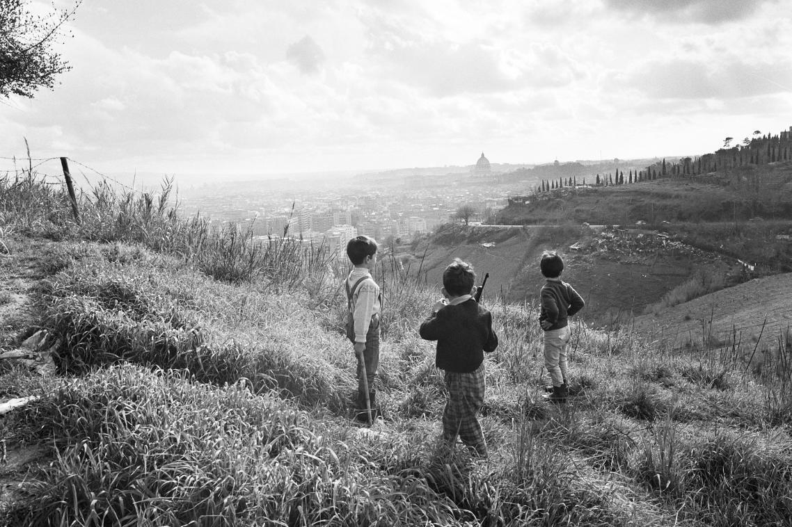 Οι «μικροί πολεμιστές» στον λόφο του Μόντε Μάριο στη Ρώμη, το 1954