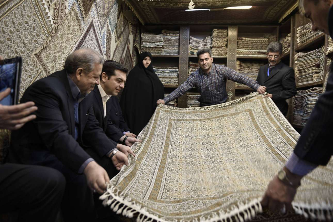 Φεβρουάριος 2016. Ενα στιγμιότυπο από την επίσκεψη του στην Τεχεράνη