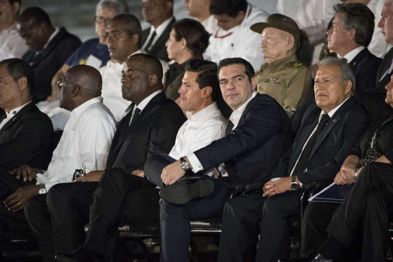 Νοέμβριος 2016. Λίγες ημέρες μετά την επίσκεψη Ομπάμα, μεταβαίνει στην Αβάνα της Κούβας για την κηδεία του Φιντέλ Κάστρο
