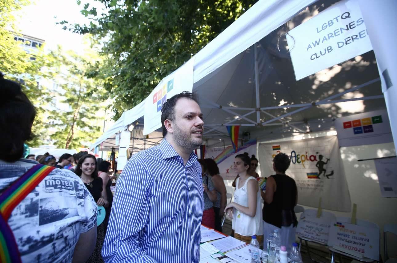 Παρών στο Pride και ο υπουργός Τουρισμού Θανάσης Θεοχαρόπουλος