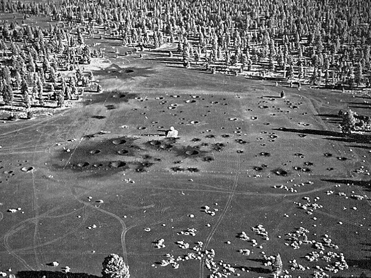 Μια πανοραμική εικόνα της περιοχής στην Αριζόνα όπου δημιουργήθηκαν οι κρατήρες για να εκπαιδευτούν οι αστροναύτες