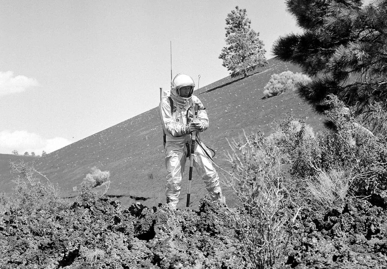 Προσομοίωση εργασιών στην Σελήνη στο ηφαίστειο Sunset Crater στην Αριζόνα