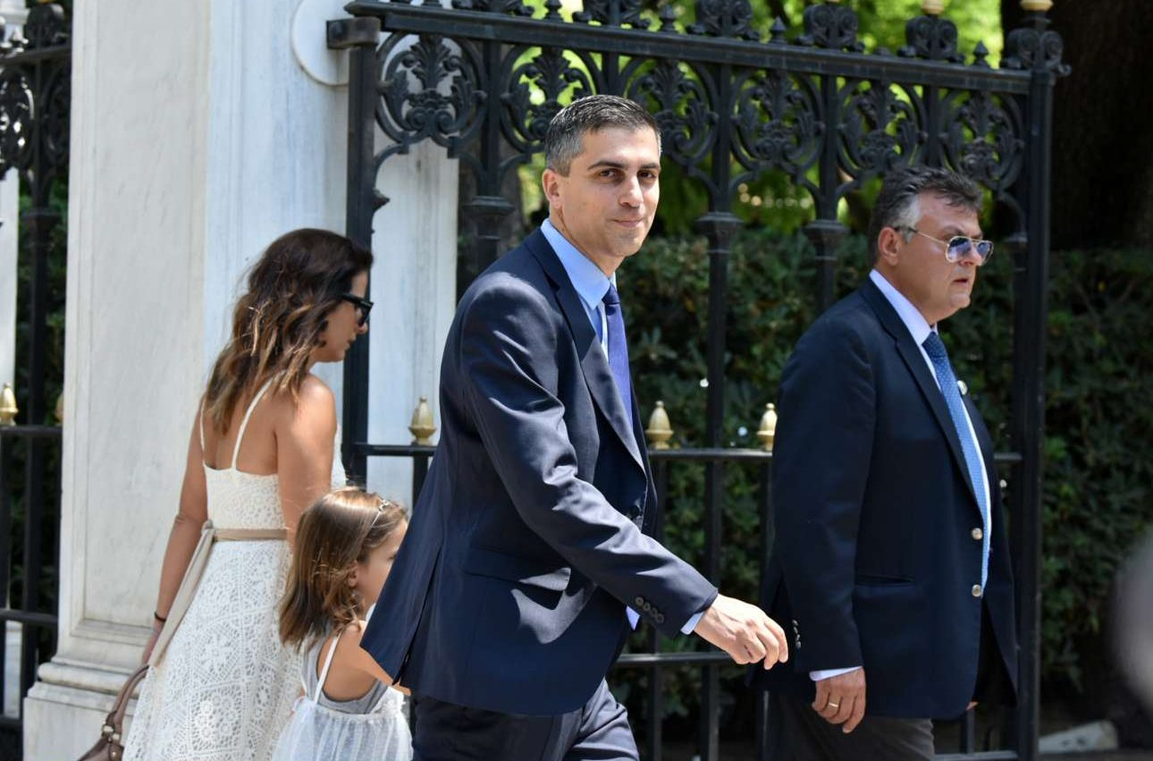 Ο Χρήστος Δήμας, υφυπουργός Ανάπτυξης και Επενδύσεων αρμόδιος για την έρευνα και την τεχνολογία