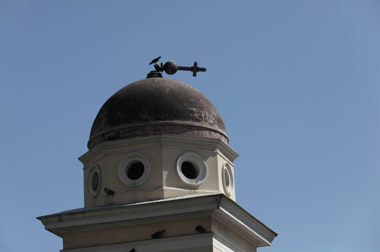 Μικρές υλικές ζημιές στον τρούλο της εκκλησίας της Παντάνασσας στο Μοναστηράκι