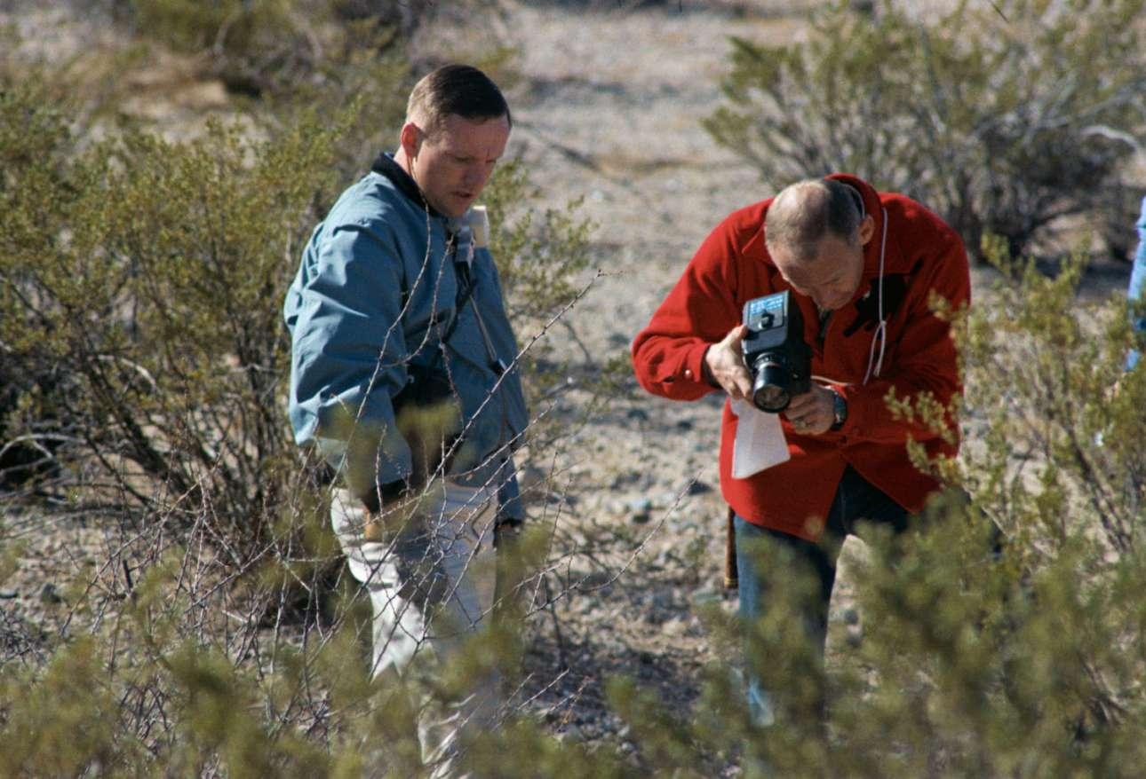 Οι αστροναύτες Μπαζ Ολντριν και Νιλ Αρμστρονγκ συμμετέχουν σε ένα ταξίδι γεωλογίας στη Σιέρα Μπλάνκα του Τέξας