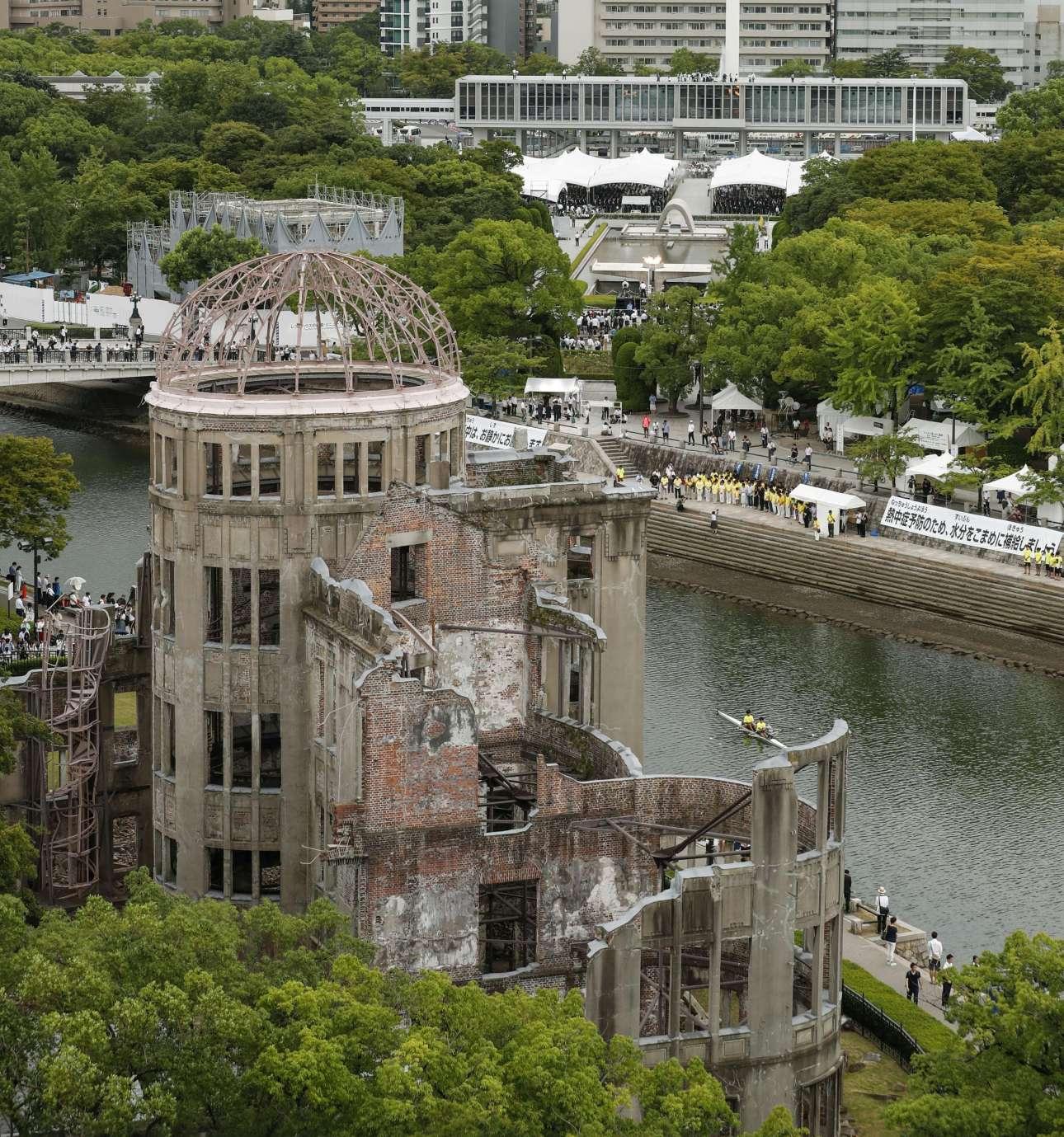 Ο θόλος της Χιροσίμα, ένα από τα ελάχιστα κτίρια που διασώθηκαν από την έκρηξη της ατομικής βόμβας