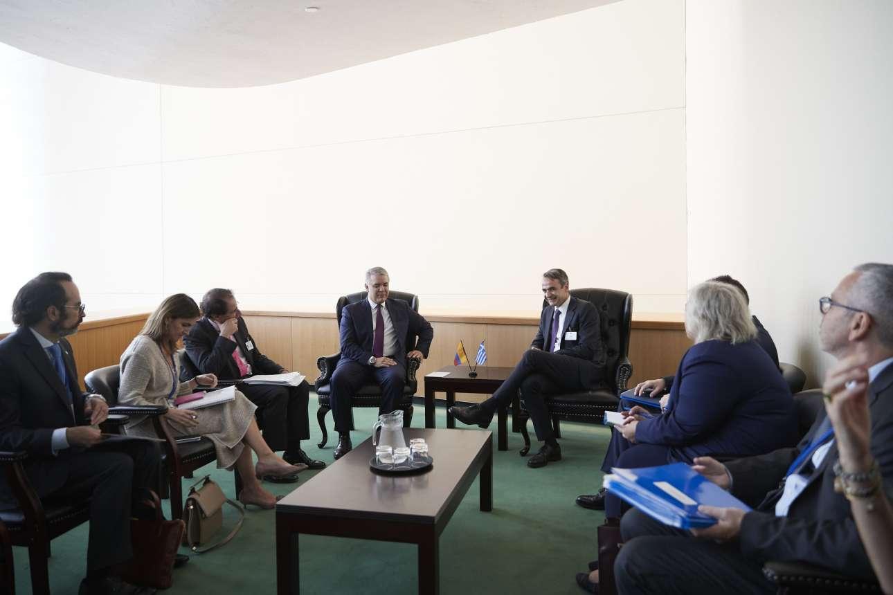Στη συνάντηση με τον πρόεδρο της Κολομβίας Ιβάν Ντούκε τη Δευτέρα, 23 Σεπτεμβρίου